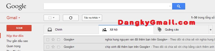 Giao diện Gmail