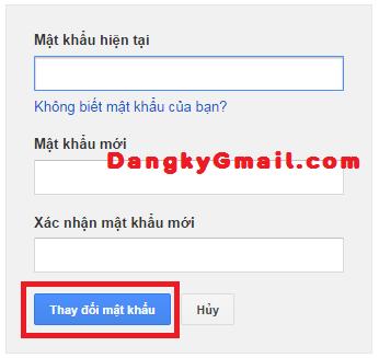 Thay đổi mật khẩu Gmail