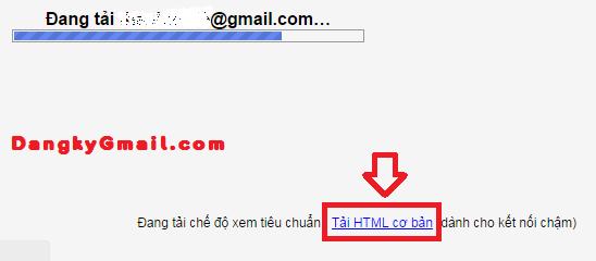 Đăng nhập Gmail nhanh hơn với chế độ HTML cơ bản