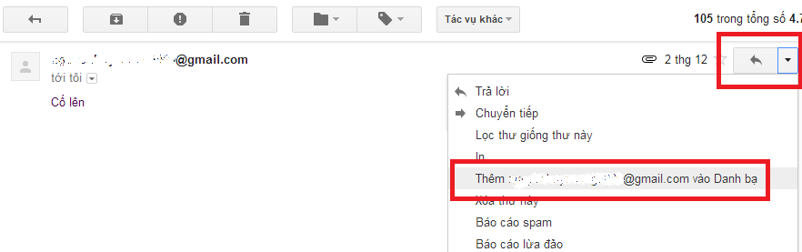 Hướng dẫn cách thêm địa chỉ email mới vào danh bạ Gmail