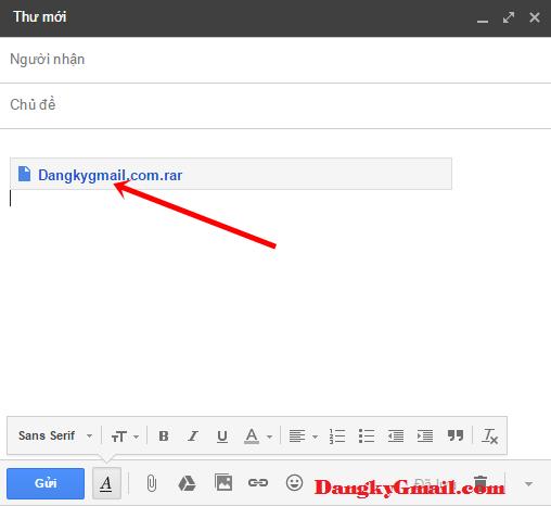 Hướng dẫn cách gửi tập tin, tài liệu, ảnh qua Gmail