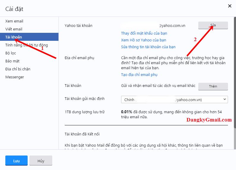 Hướng dẫn cách chuyển tiếp email từ Yahoo mail sang Gmail