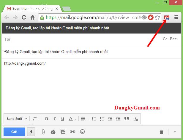 Gửi, chia sẻ link nhanh bằng Gmail trên Google Chrome, Cốc Cốc