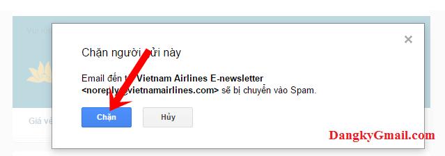 Hướng dẫn chặn Email bạn không muốn nhận thư trong Gmail