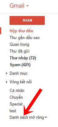 Thùng rác trong Gmail ở đâu?