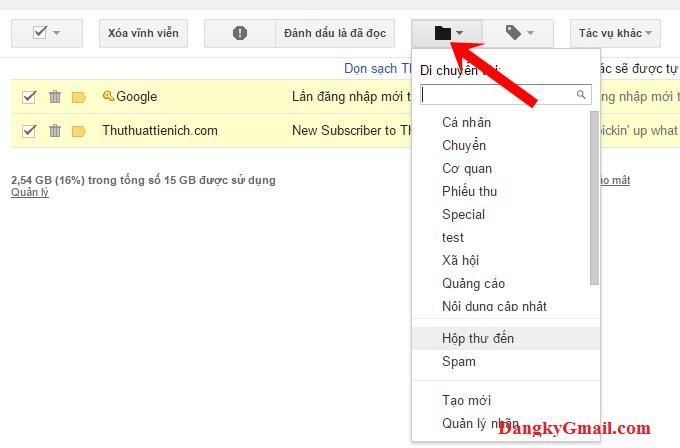 Phục hồi email đã xóa trong Gmail