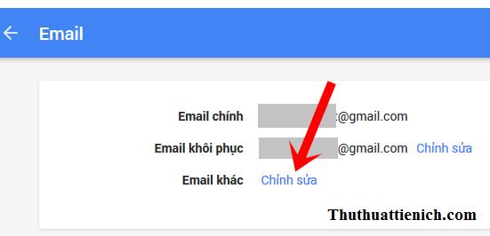 Cách tạo email phục hồi, thay thế cho tài khoản Gmail