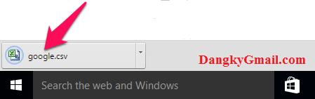 Danh bạ trong Gmail đã được xuất và tải về máy tính