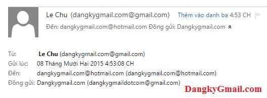 """Người nhận sẽ thấy các email """"Đồng gửi"""""""