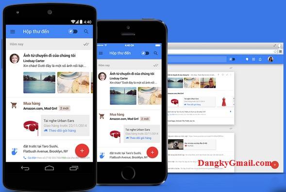 Inbox trên Android, IOS, trình duyệt web
