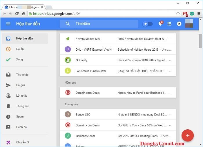 Inbox trên trình duyệt web