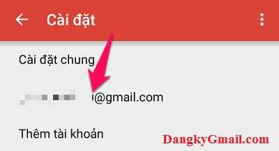 Nhấn vào tên Gmail của bạn