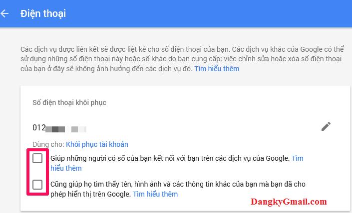 Hướng dẫn cách thêm/ thay đổi/ xóa số điện thoại khôi phục Gmail