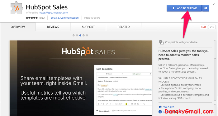 Cài đặt add-on Hubspot Sales