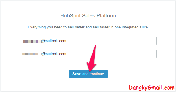 Đăng ký tài khoản Hubspot Sales