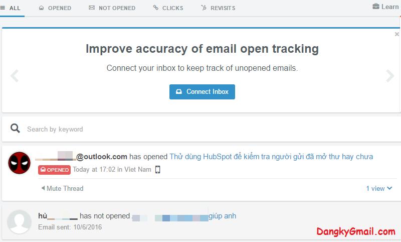 Làm sao để biết người nhận đã mở email của mình chưa?